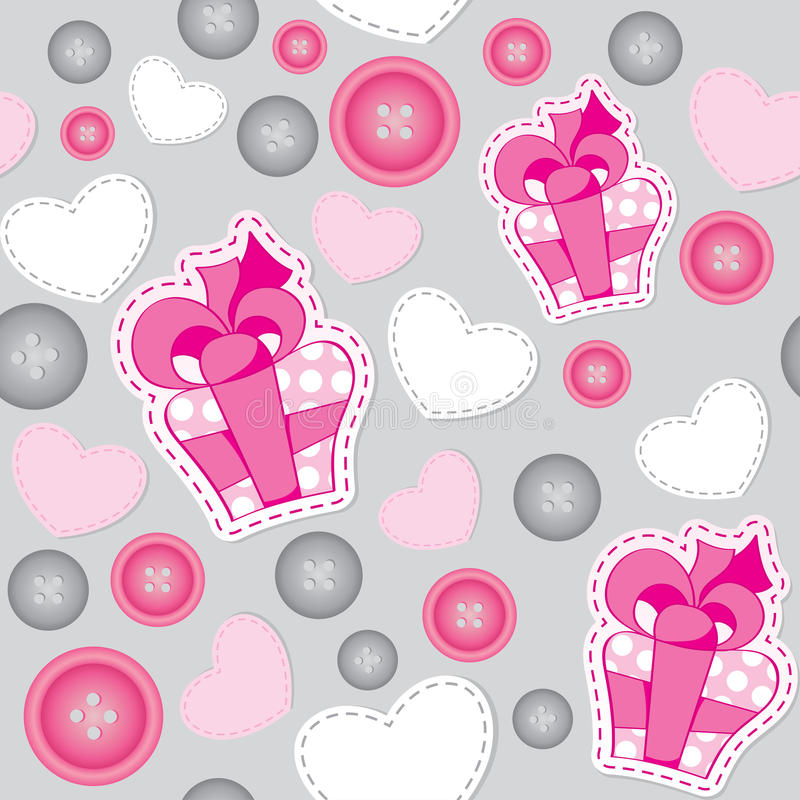 Download Pattern With Pink Gift Boxes Stock Vector - Illustration: 21719210