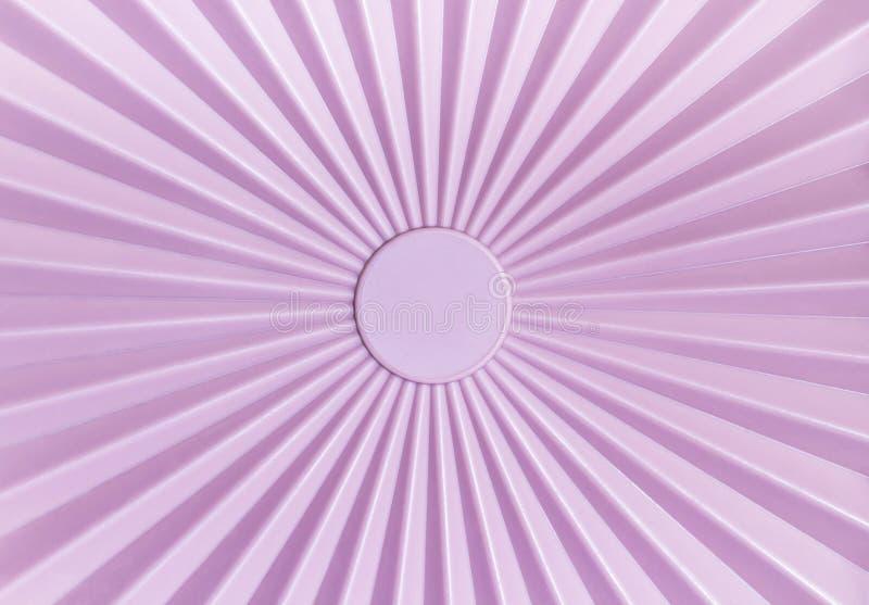 Pattern of pink plastic tupperware. Rays pattern of pink plastic tupperware background stock photo
