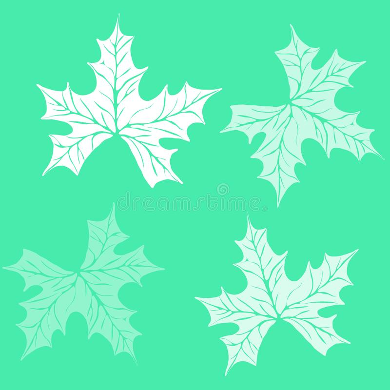 Pattern Plant of simple. Color illustrations vector illustration