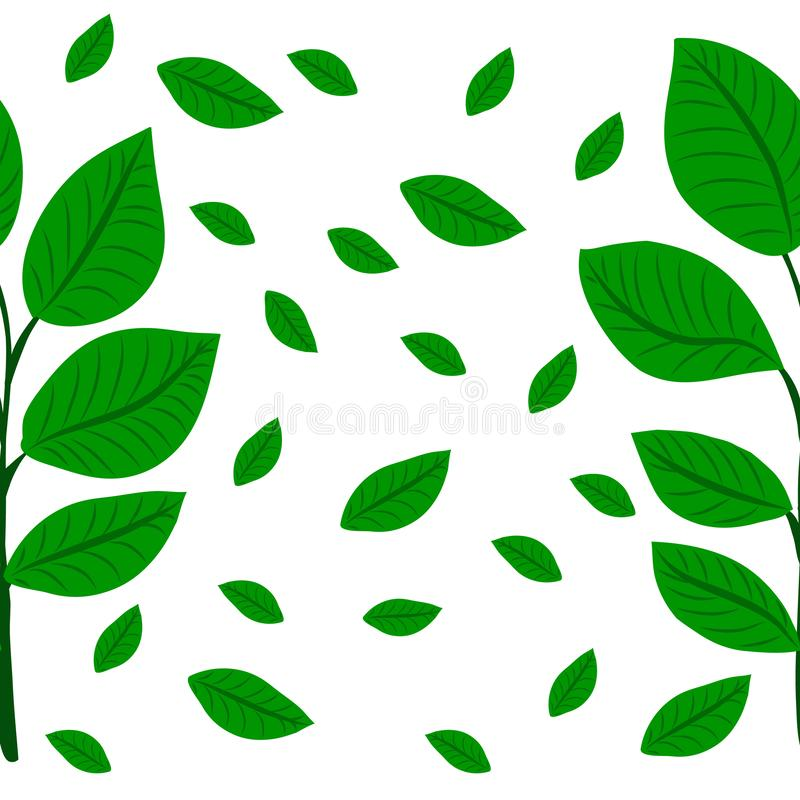 Pattern Plant of simple. Color illustrations royalty free illustration