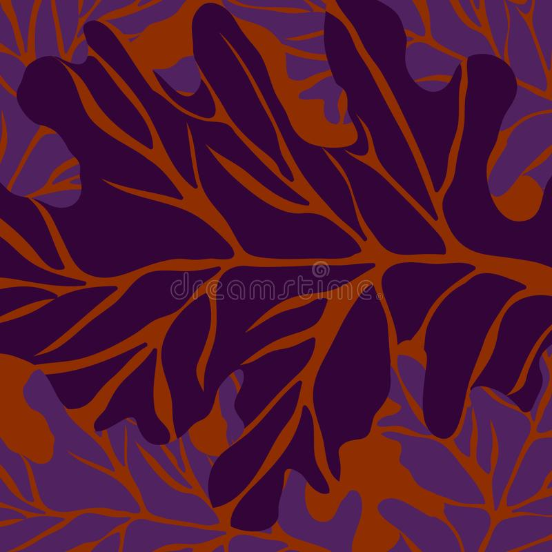 Pattern Plant of simple. Color illustrations stock illustration