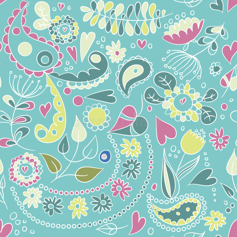 Download Pattern with plants and stock vector. Image of contemporary - 25384285