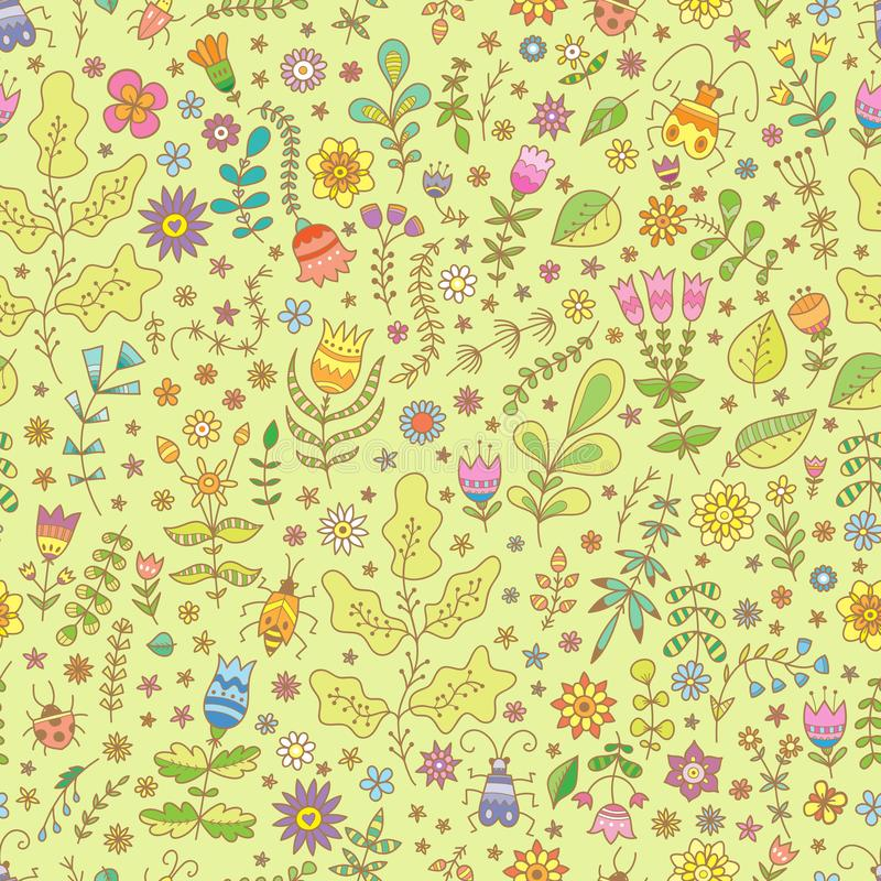 Pattern with plants royalty free stock photos