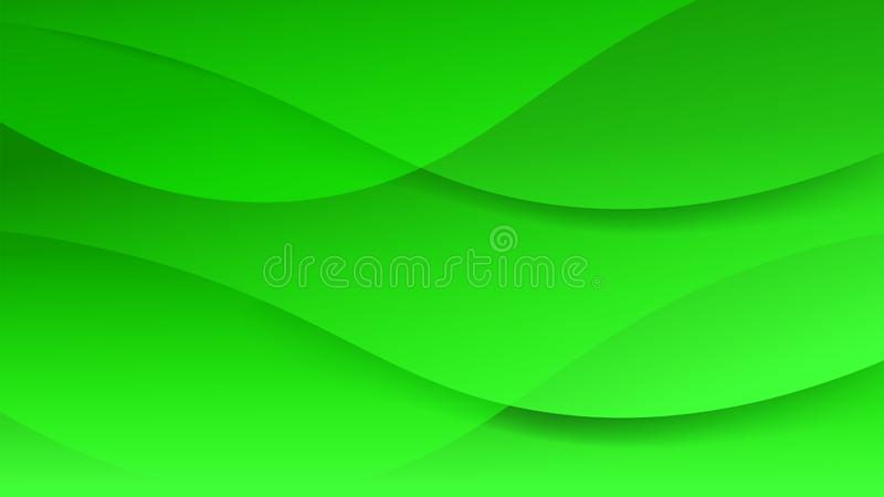 Futuristic beautiful clean green soft graphic  background. Modern abstract acta certificate with mild smooth wave lines layout. Ve vector illustration