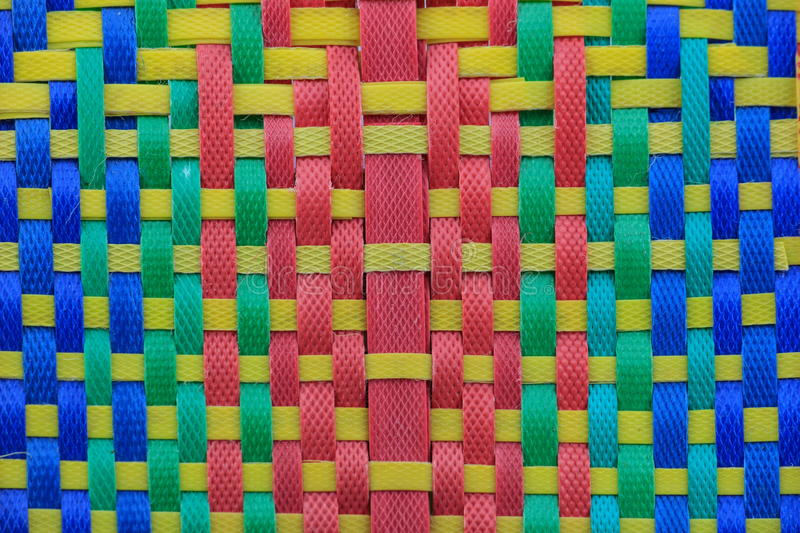 Pattern of polypropylene woven. Multi-color combinations stock photo