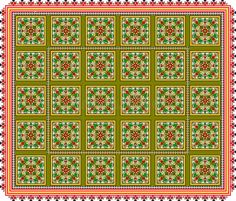 Pattern, popular motif, regular motif, tablecloth, picture. Regular popular motifs. Can be used as background for events or tablecloth stock image