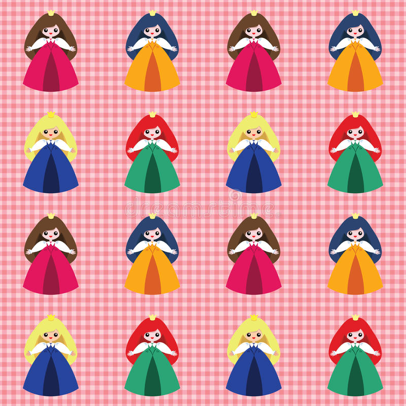 Download Pattern with princesses stock vector. Image of holiday - 27609799