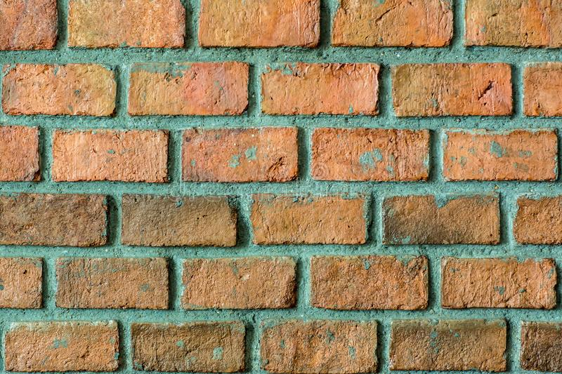 Pattern of Red brick wall for background and textured, Seamless Red brick wall background stock photo