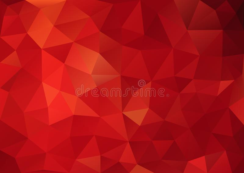 Pattern red color geometric stock illustration