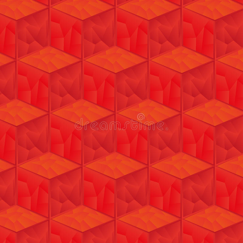Pattern of red cubes background stock illustration