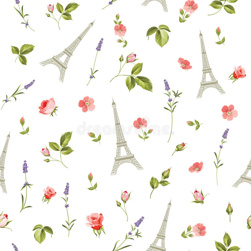 Pattern with red flowers. royalty free illustration