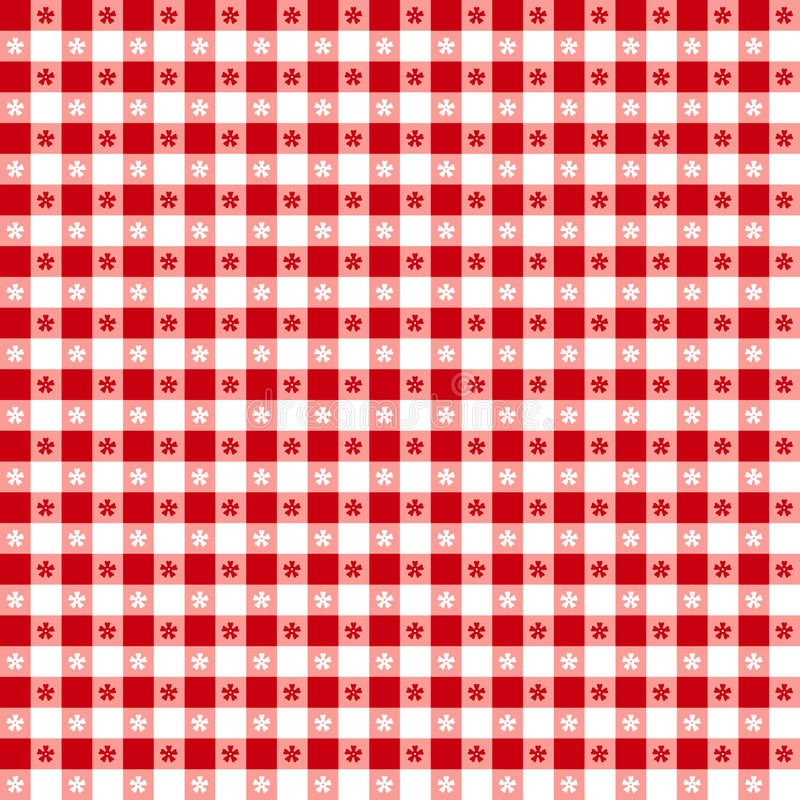 pattern red seamless tablecloth 库存例证