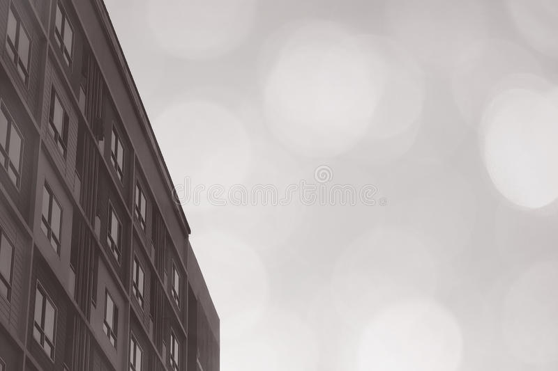 Pattern rooms block apartment condominium style on white background with dreamy blurry bokeh light. royalty free stock images