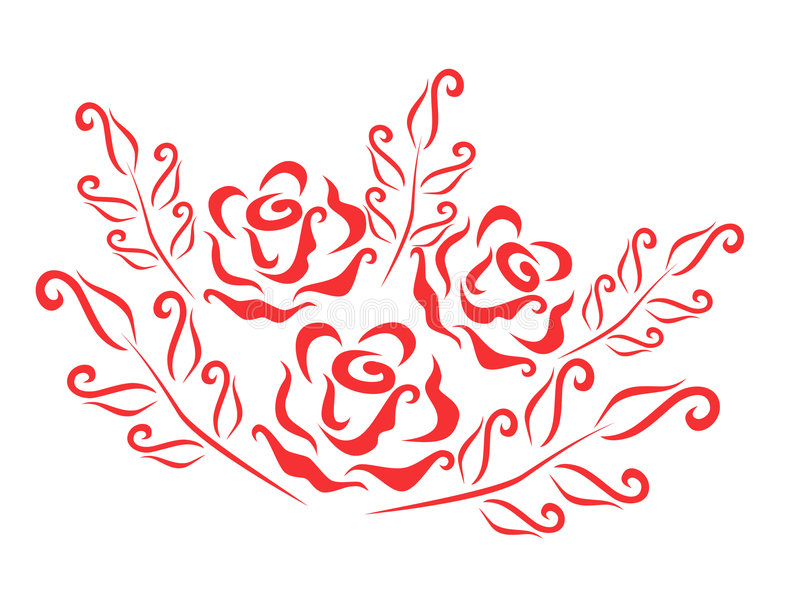 Pattern with roses. Pattern or background with red roses vector illustration