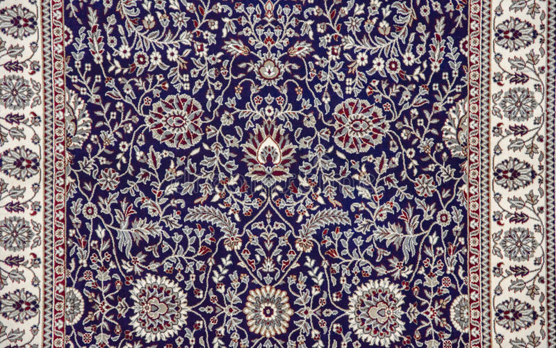 Pattern on Rug. Colorful pattern on rug and carpet royalty free stock image
