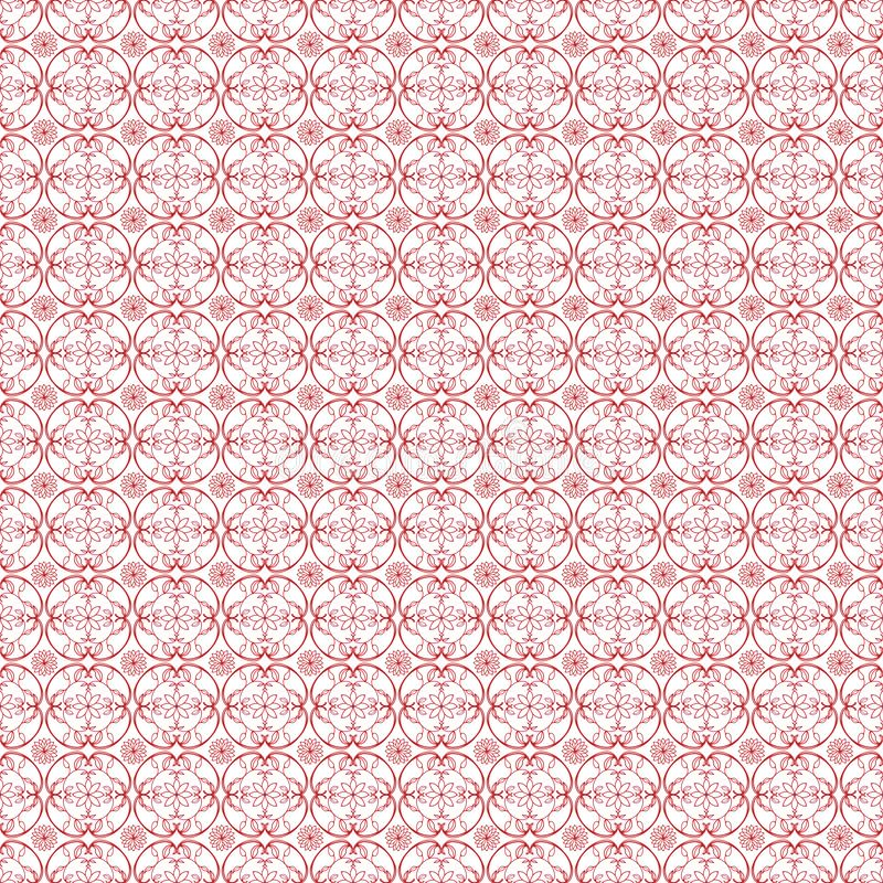 Pattern10 sans couture simple floral illustration de vecteur