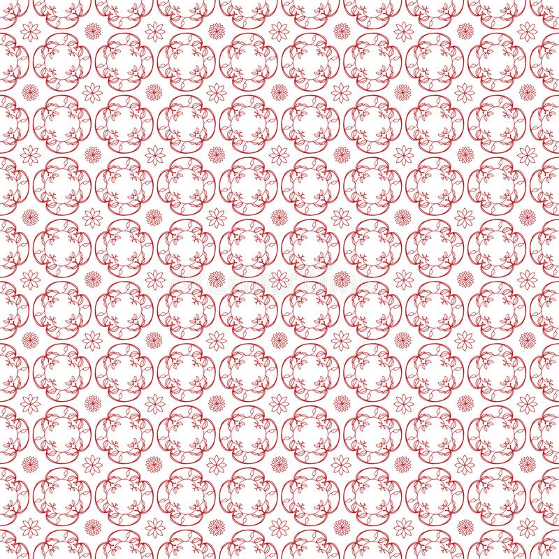 Pattern17 sans couture simple floral illustration stock
