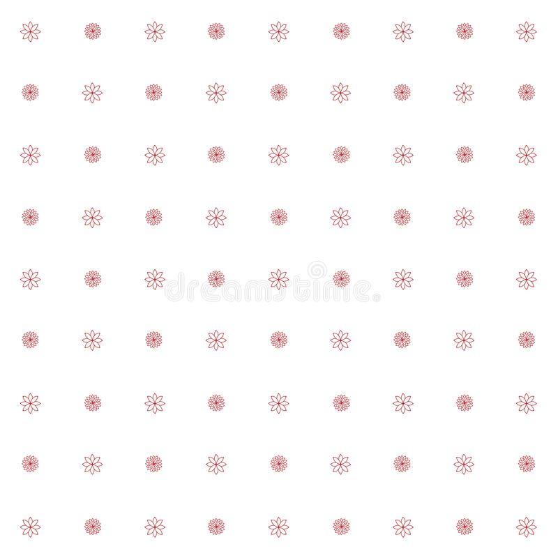 Pattern18 sans couture simple floral illustration stock
