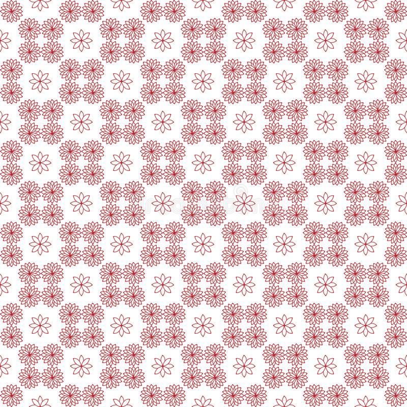 Pattern13 sans couture simple floral illustration stock