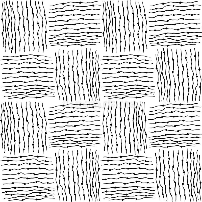 Pattern with scribble stripped tiles. vector illustration