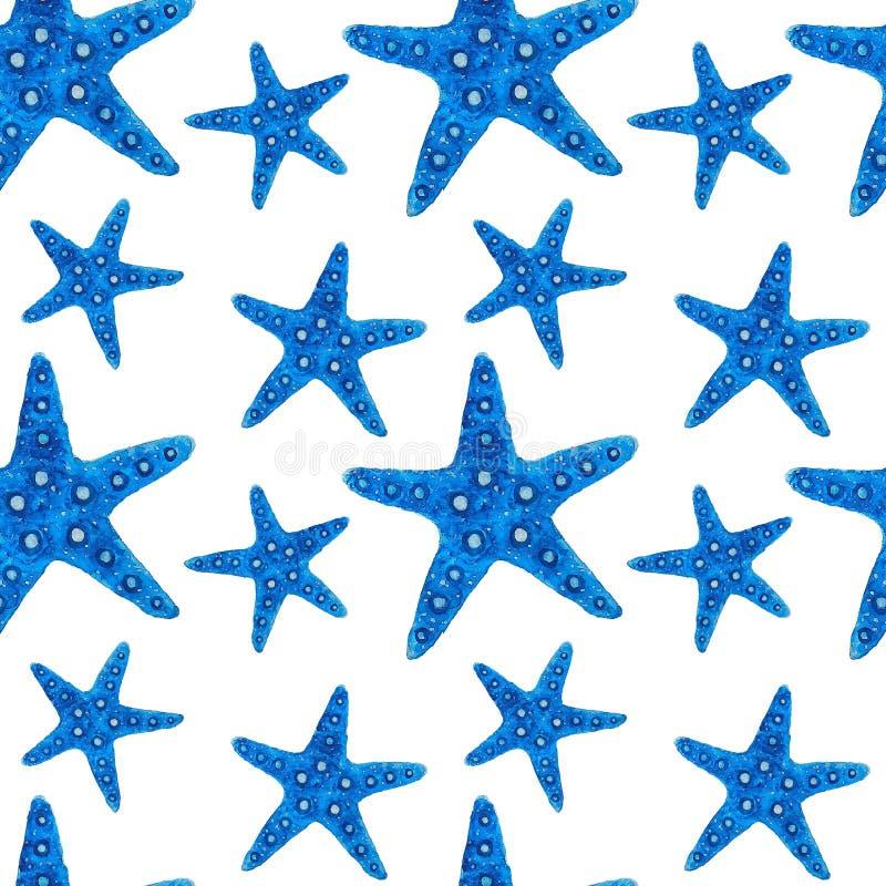 Pattern Sea fish illustration watercolor Ocean Animals Digital paper Textile set Summer decor Wall wallpaper Wall design Wallpaper. Illustration Pattern Sea fish stock illustration
