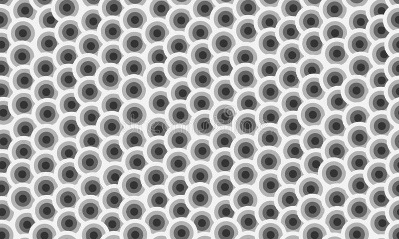 Chaotic circles grid seamless vector overlay texture. Chaotic circle cell hive structure seamless vector overlay texture stock illustration