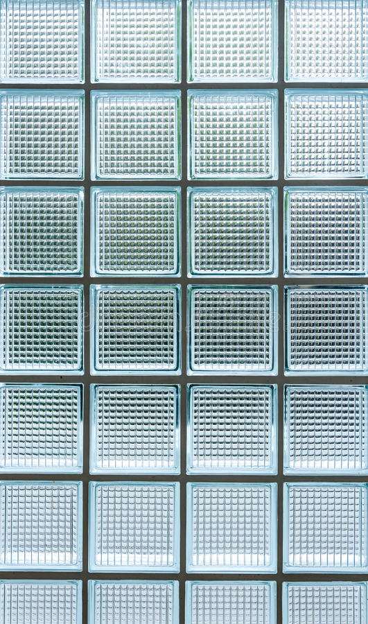 Clear Glass Panels On White Surface: Pattern Of Seamless Clear White Glass Wall Stock Photo
