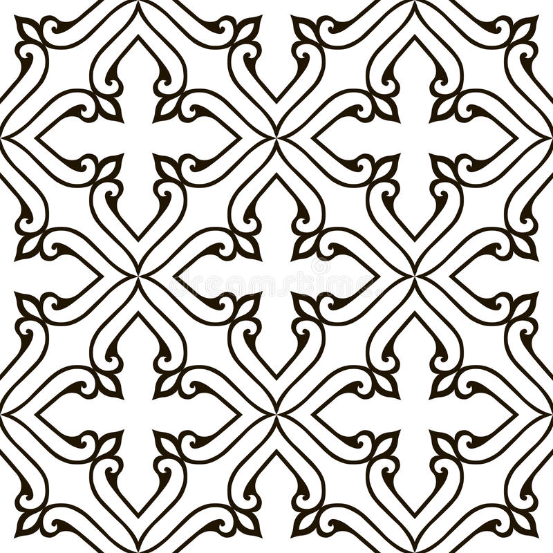 pattern seamless with damask motifs stock vector illustration of rh dreamstime com damask pattern vector illustrator damask pattern vector illustrator