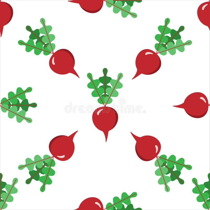 Pattern seamless Vector Vegetable icon Beetroot EPS10. Pattern seamless Vector Vegetables ripe Beetroot EPS10 vector illustration