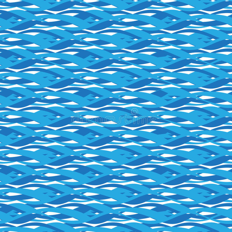 pattern seamless water 向量例证