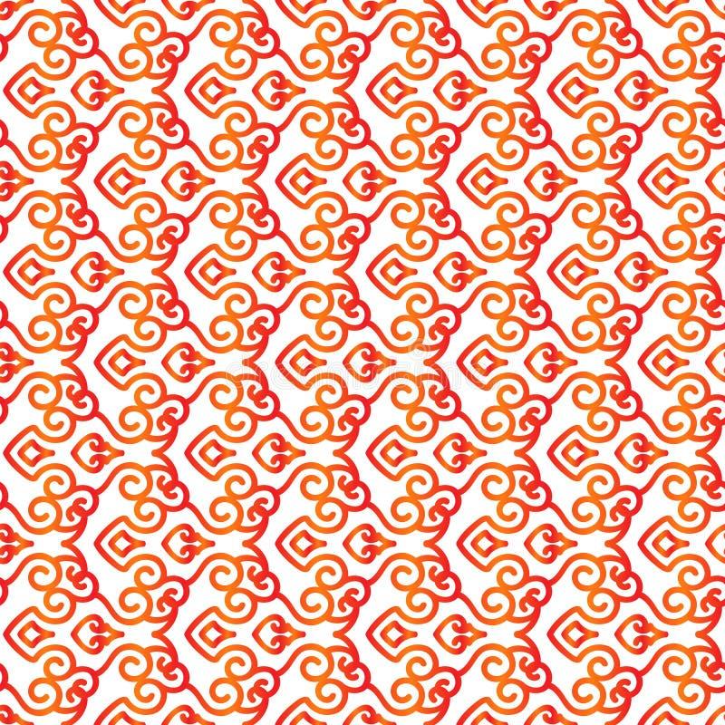 Pattern5 sem emenda asiático ilustração do vetor