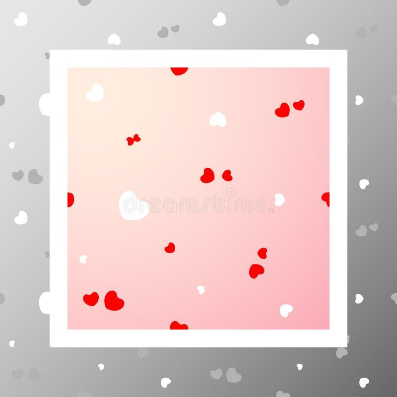 Pattern-009 - serca royalty ilustracja