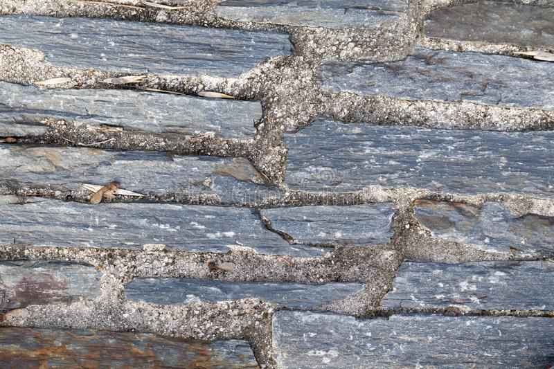 Texture of a shale stone wall royalty free stock images