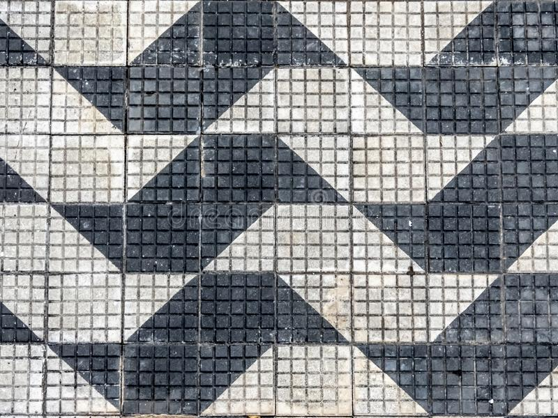 Pattern sidewalk with drawing of sao paulo. State map stock image