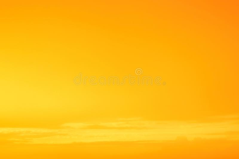 Sky in the yellow colors. effect of light pastel colored of sunset clouds cloud on the sunset sky background. Pattern of sky and clouds with effect of pastel royalty free stock photography