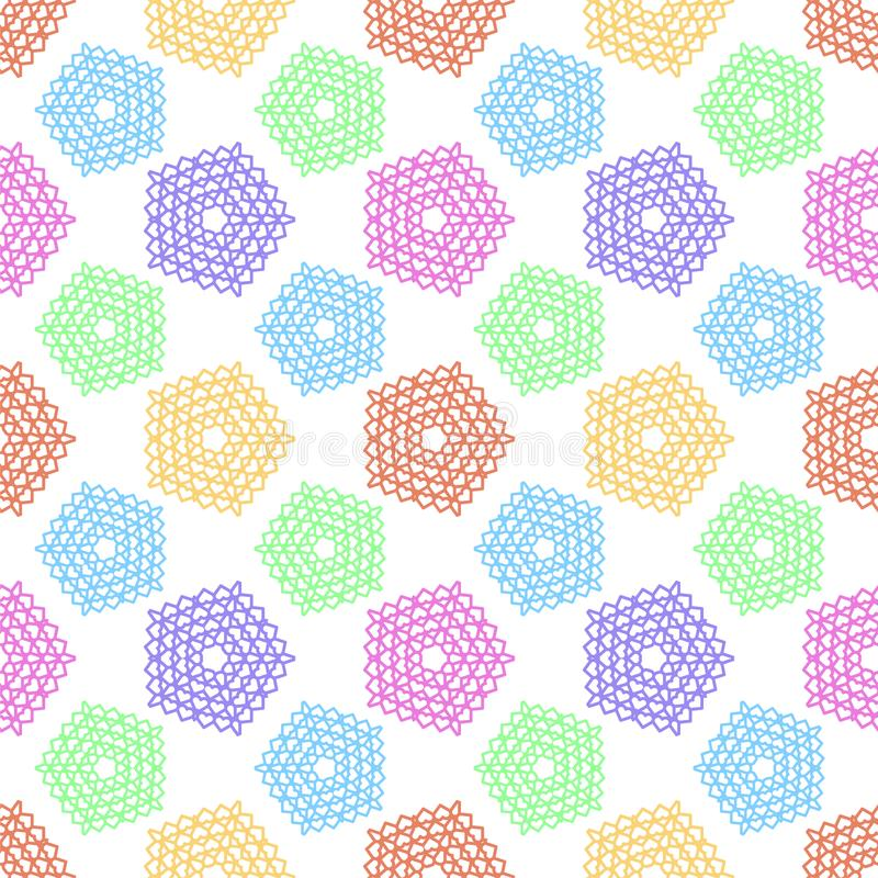 Pattern with small symbols of pentagonal star from hearts vector illustration