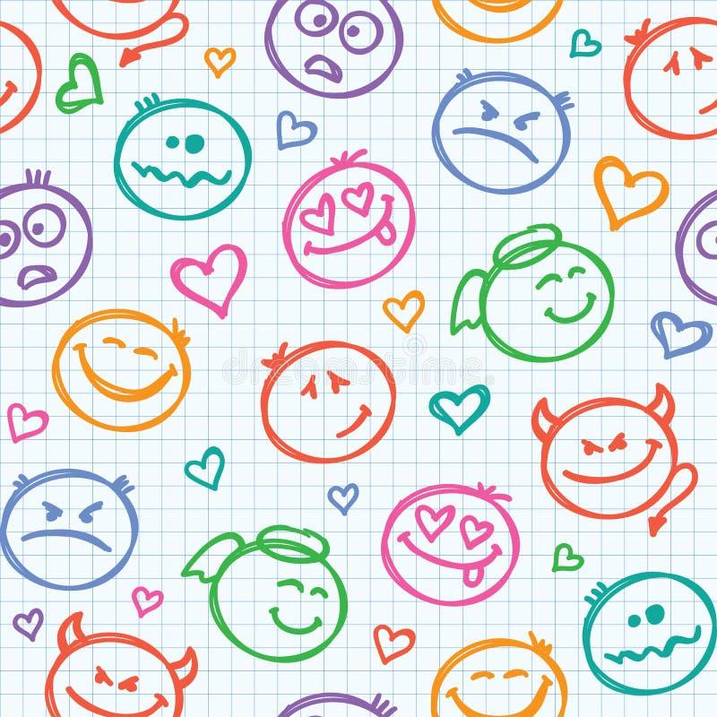 Pattern of smiles vector illustration