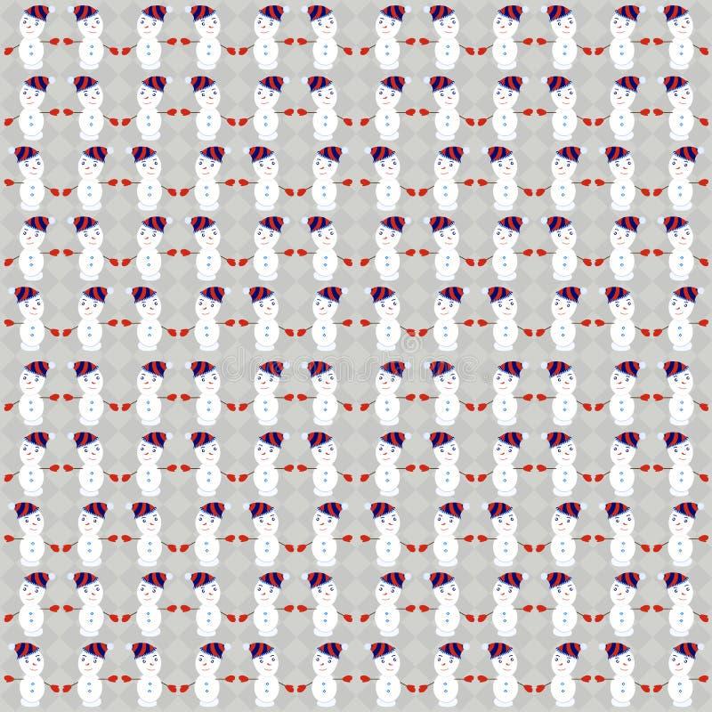 Pattern Snowman on Christmas stock photography