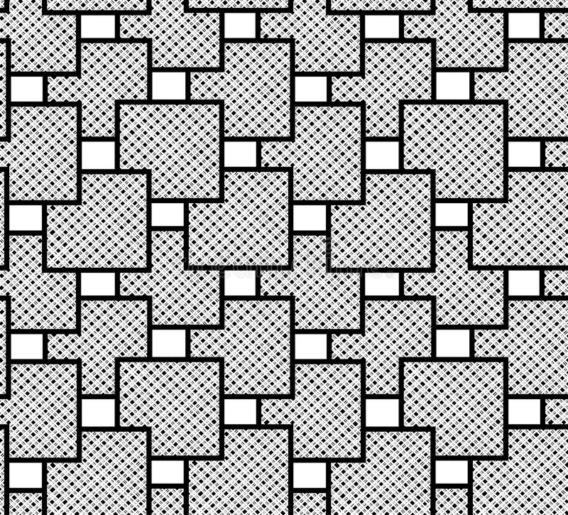 The pattern of squares checkered. Geometric vector seamless royalty free illustration