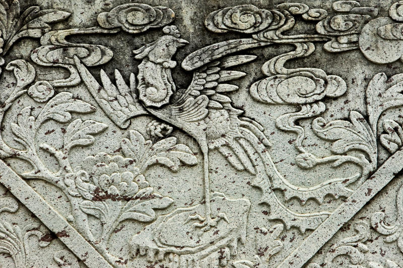 Download Pattern on a stone. stock image. Image of chinese, design - 17118665