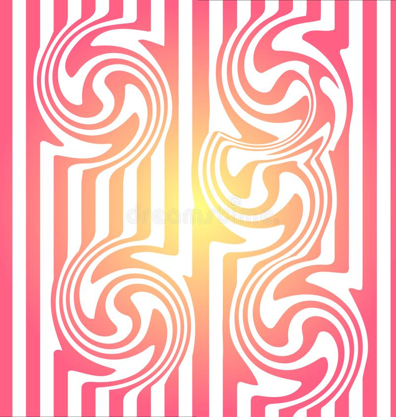 Pattern stripes seamless. Pink two tone stripes pattern vector for wallpaper, fabric, background, backdrop, paper gift, textile,. Fashion design etc. Abstract royalty free illustration