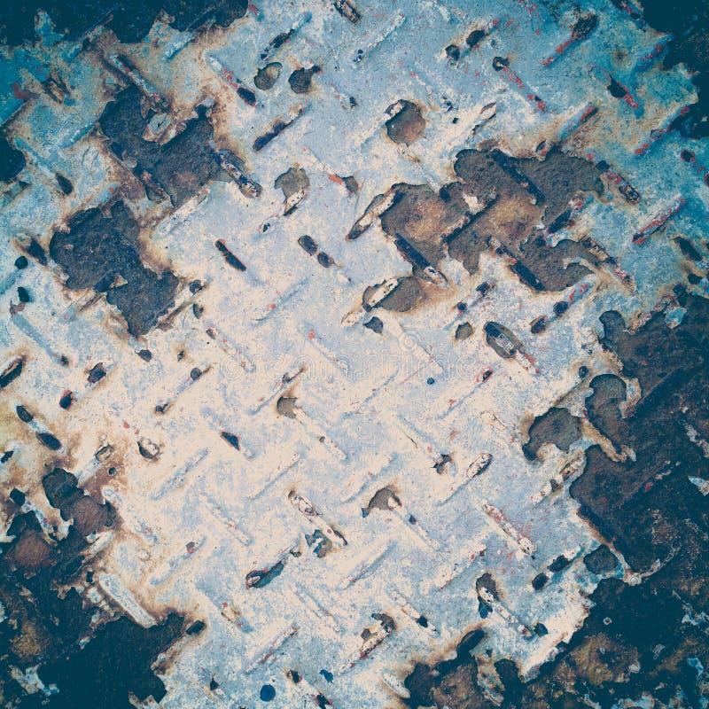 Pattern style of steel floor stock photography