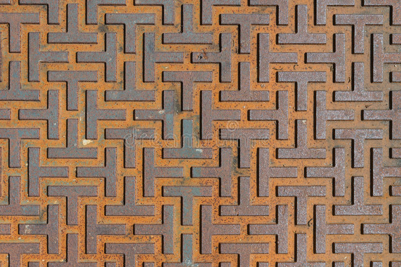 Pattern style of steel floor for background royalty free stock photography