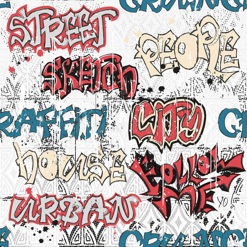 Pattern In Style Of Urban Graffiti Stock Vector Image 71363006