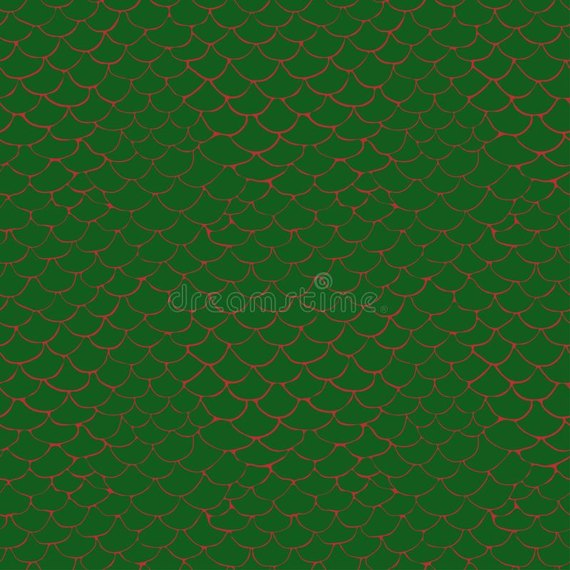 Pattern with stylized crocodile skin stock illustration