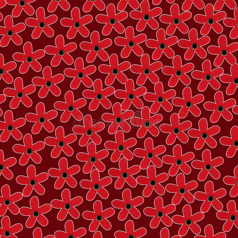 Pattern of stylized flowers vector illustration