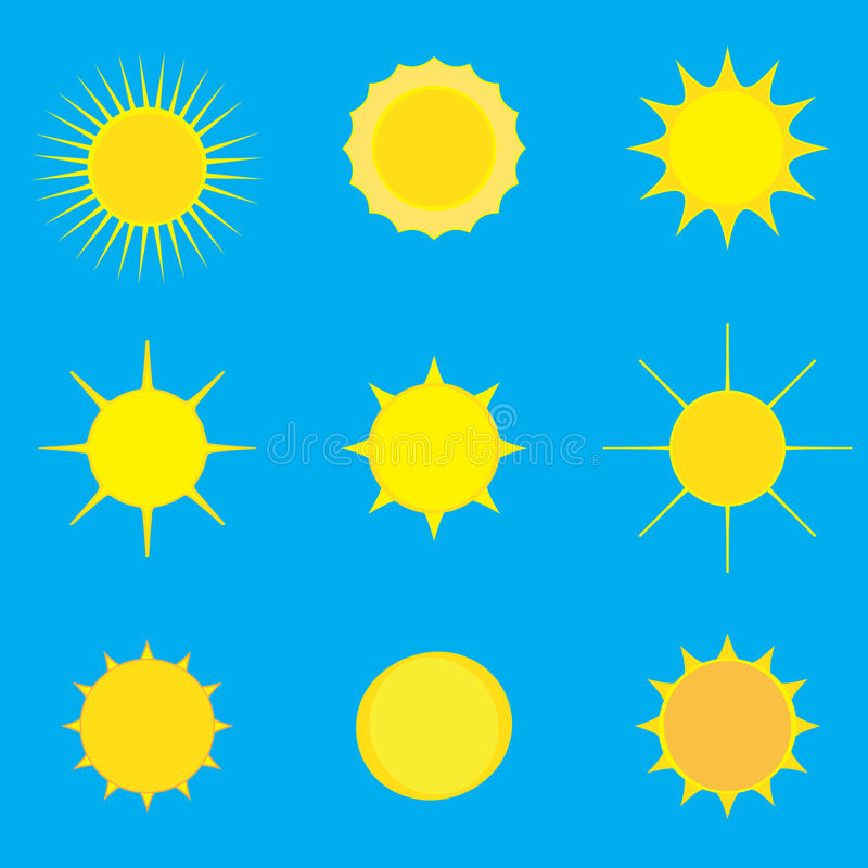 Download Pattern with sun stock vector. Illustration of line, nature - 73473725