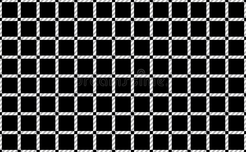 Pattern of tablecloths in black and white.Fabric Texture Background.Vector.-EPS-10 stock illustration