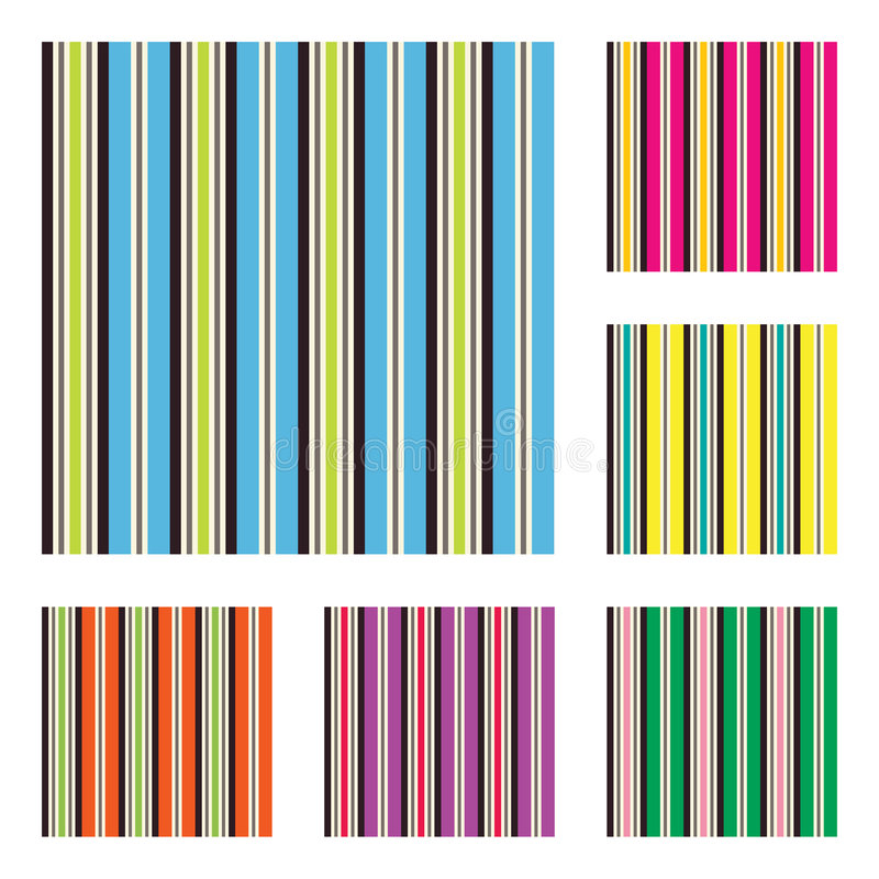 Pattern with terrace stripes stock illustration