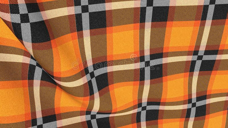 Pattern texture background of fabric with trendy style design stock illustration